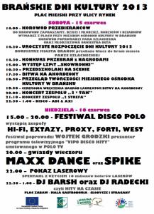 Brańskie Dni Kultury 2013