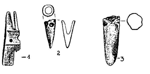 Rys. 11. przedmioty z kości i rogu (źródło; [3])