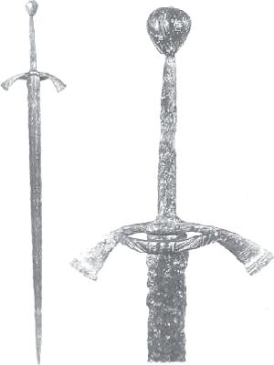 Rys. 8. Miecz pasawski z Brańska (źródło: [3])