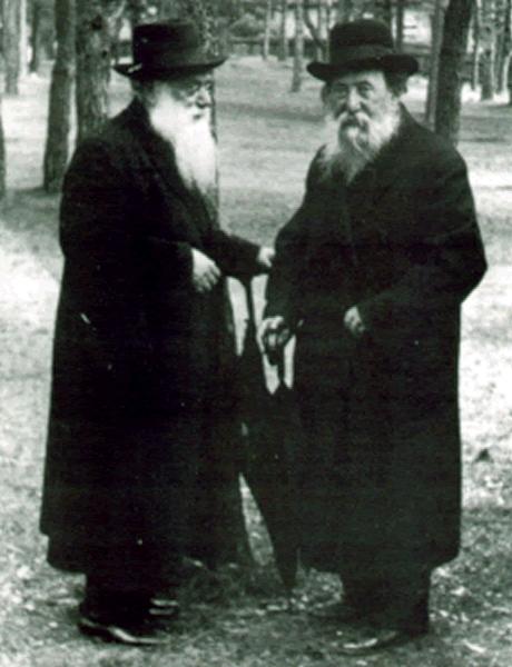 Szymon Jehuda Szkop (z lewej) oraz Chaim Ozer Grodzinski